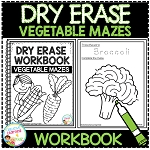 Dry Erase Workbook: Vegetable Mazes ~Digital Download~